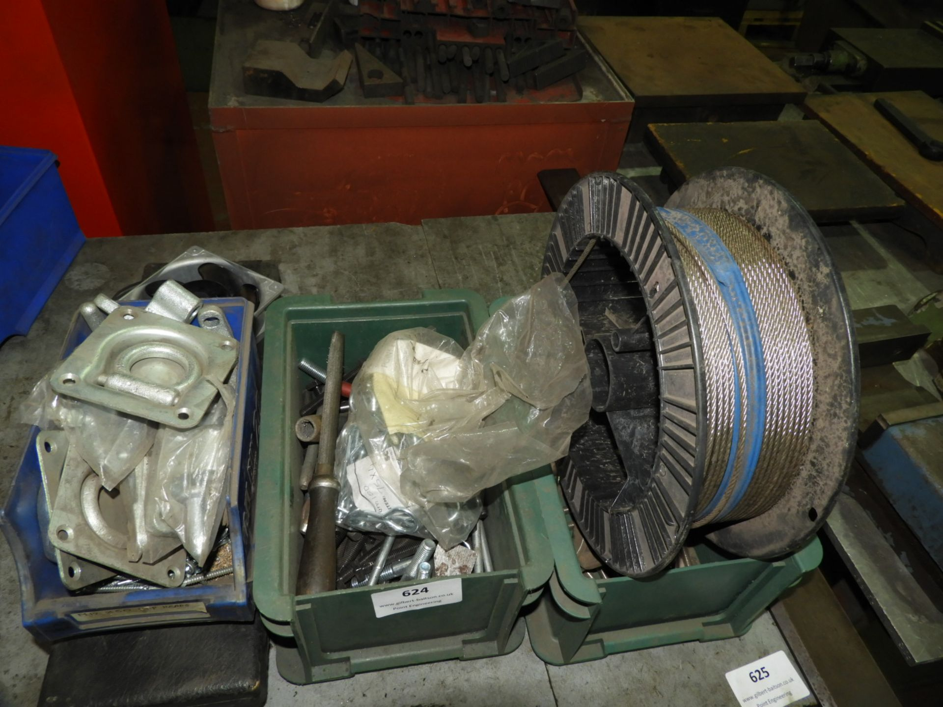 Lot 624 - *Assorted Stainless Steel Fittings, Rope, Tie Down