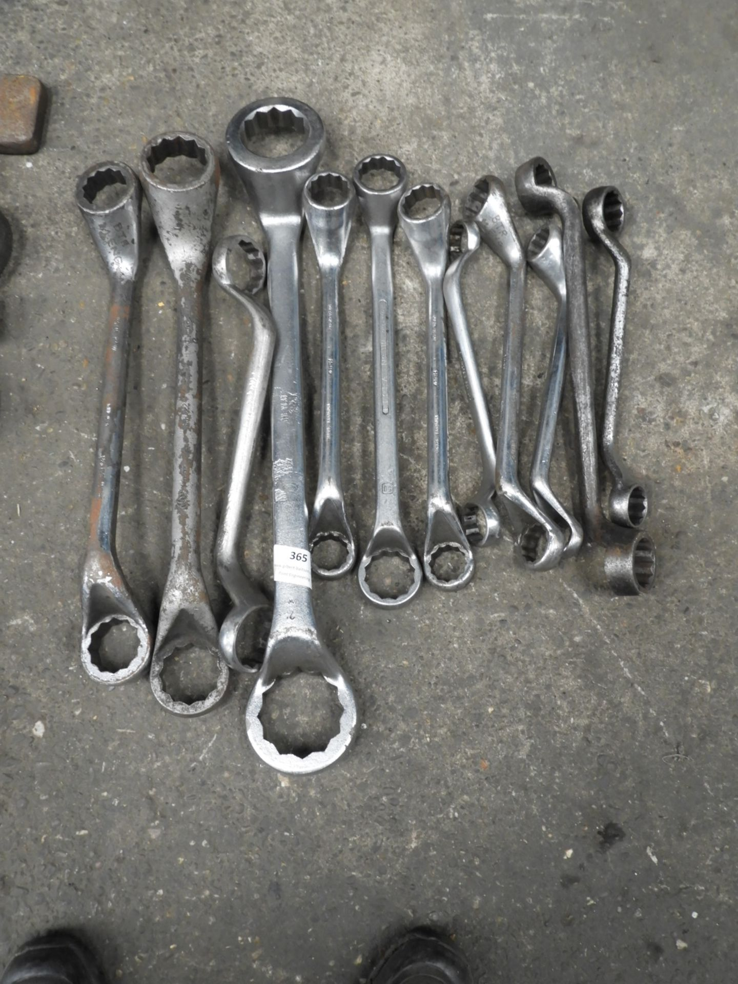Lot 365 - Twelve Ring Spanners