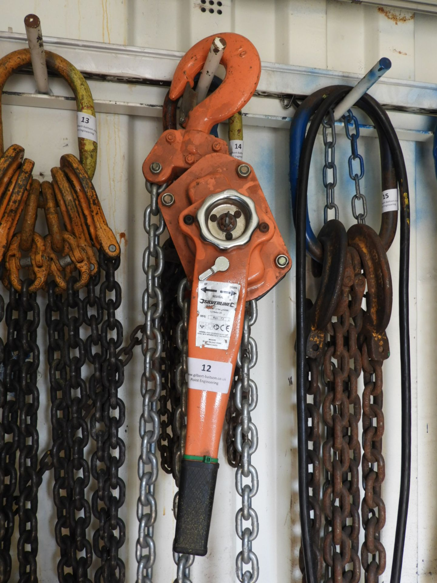 Lot 12 - *Silverline 6 Tonne Reversible Chain Block