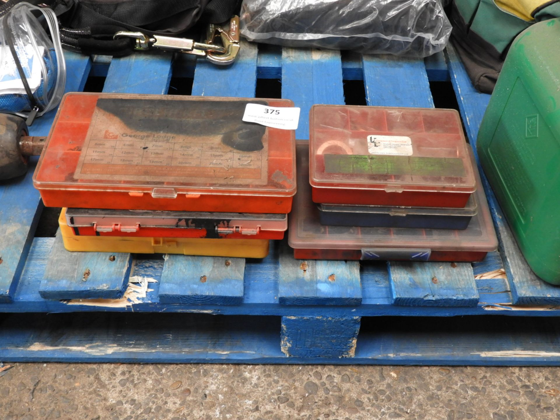 Lot 375 - *Six Component Boxes Containing Assorted Copper Wa