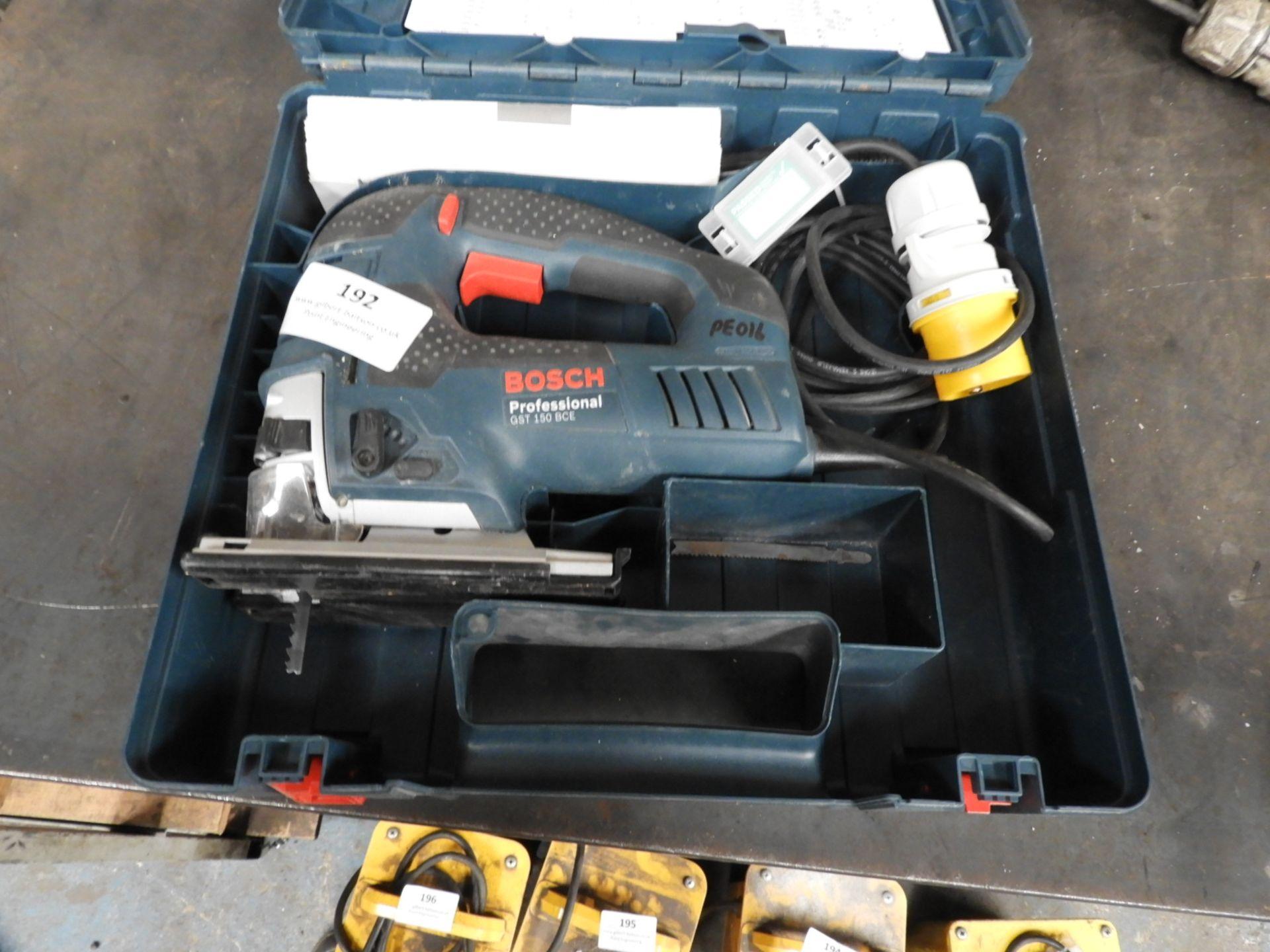 Lot 192 - *Bosch GST150BCE 110V Jig Saw with Case