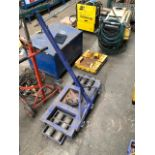 Lot 361 - *Pair of Machinery Moving Skates with Turntable