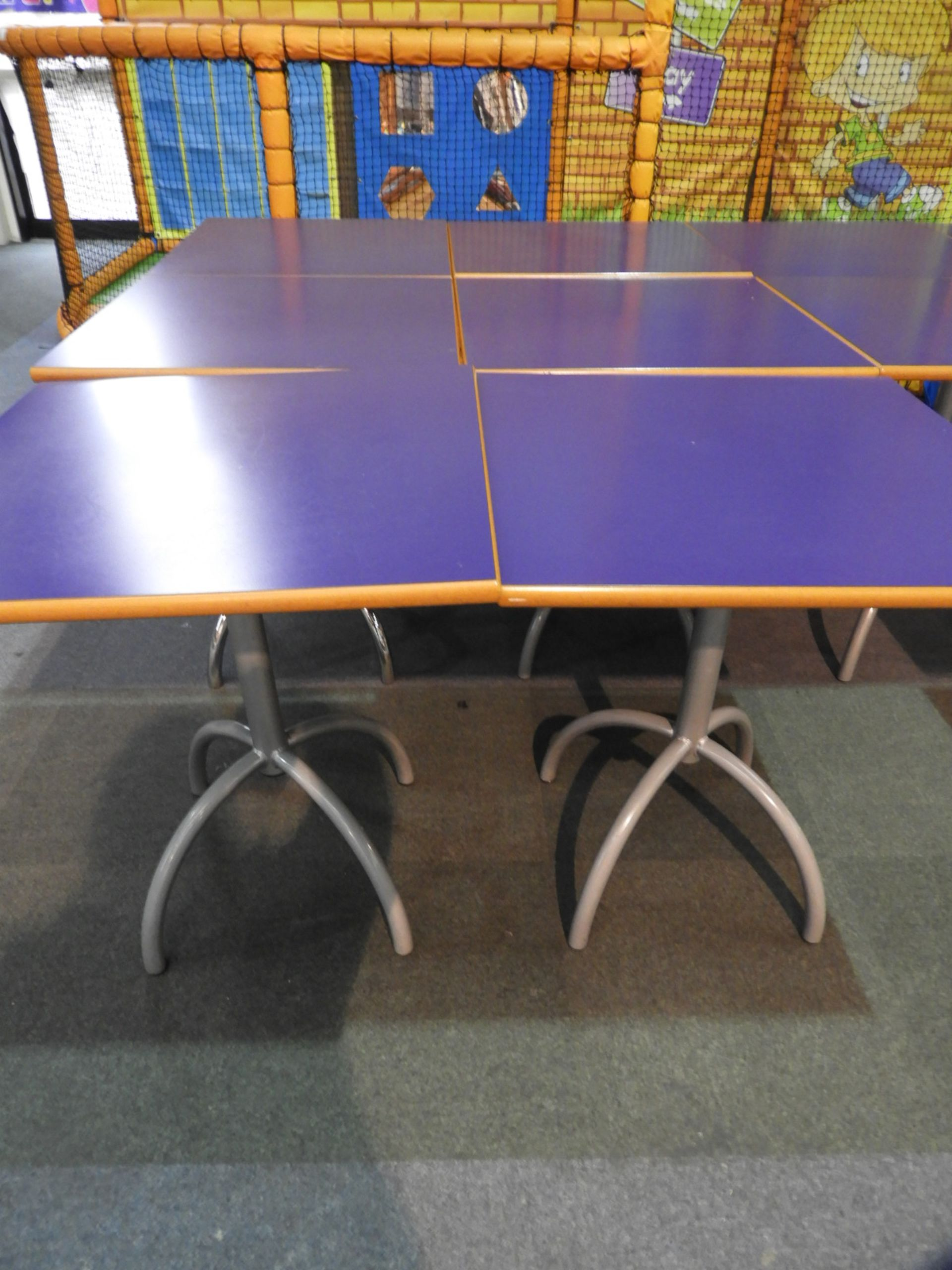 Lot 21 - *6x 70 by 70 Cafe Style Dining Tables on Tubular P