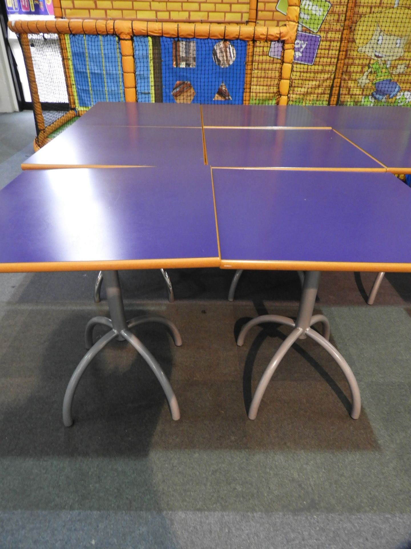 Lot 23 - *6x 70 by 70 Cafe Style Dining Tables on Tubular P