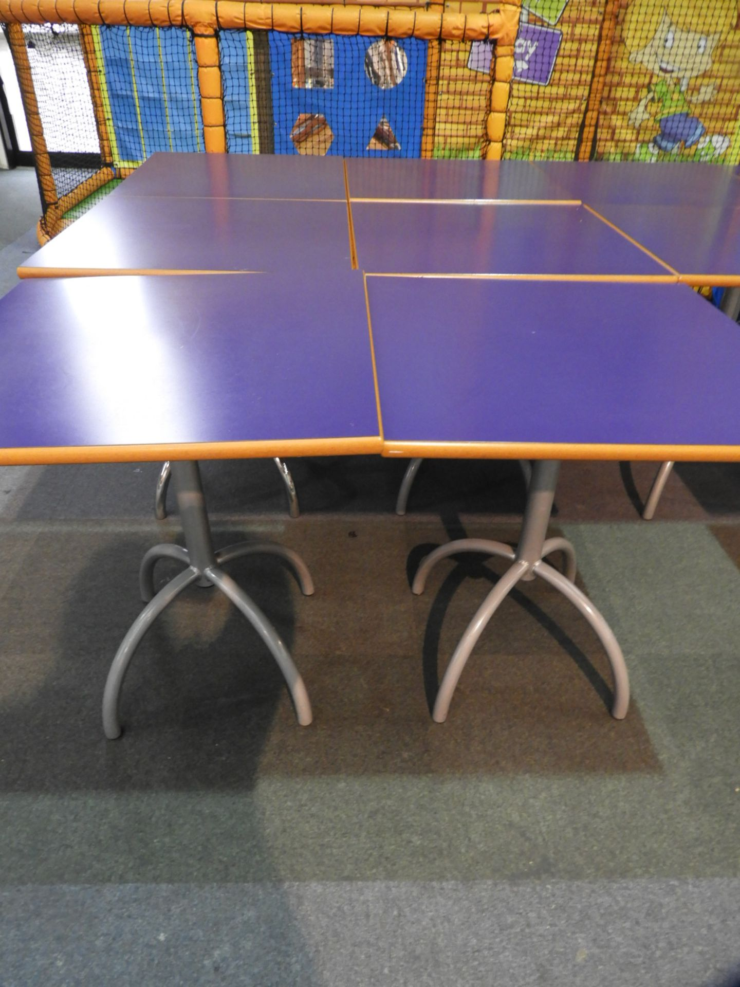 Lot 20 - *6x 70 by 70 Cafe Style Dining Tables on Tubular P