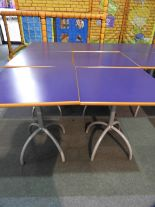 Lot 19 - *6x 70 by 70 Cafe Style Dining Tables on Tubular P