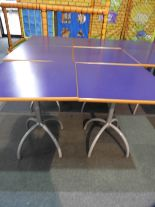 Lot 18 - *6x 70 by 70 Cafe Style Dining Tables on Tubular P