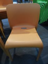 Lot 34 - *6 Pop by Origin Stackable Orange Chairs