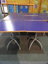 Lot 25 - *6x 70 by 70 Cafe Style Dining Tables on Tubular P