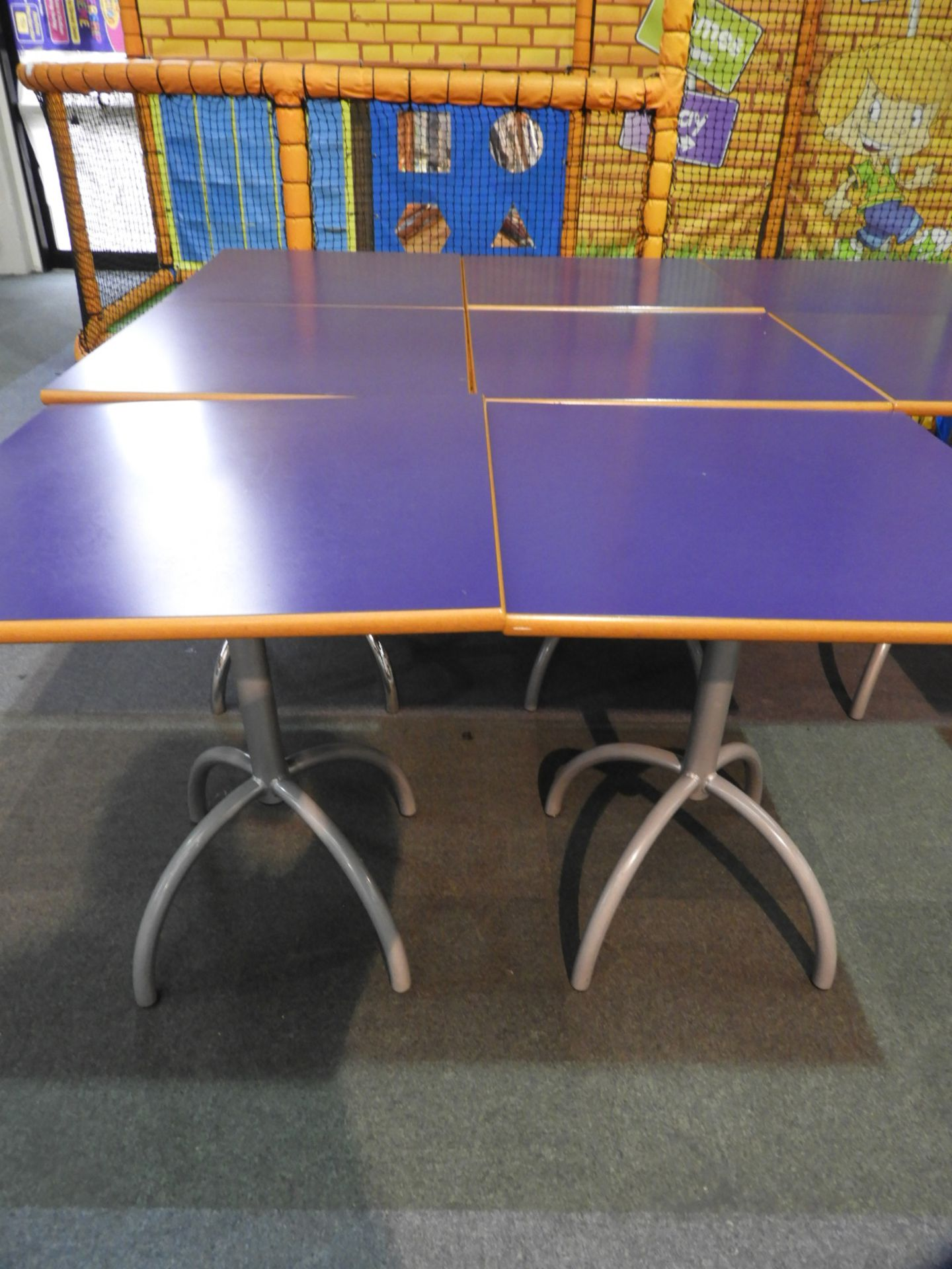 *6x 70 by 70 Cafe Style Dining Tables on Tubular P