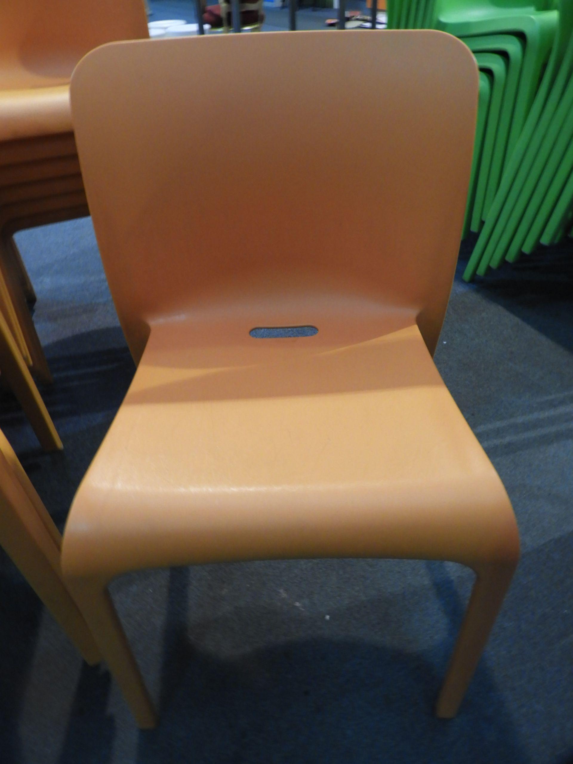 Lot 33 - *6 Pop by Origin Stackable Orange Chairs