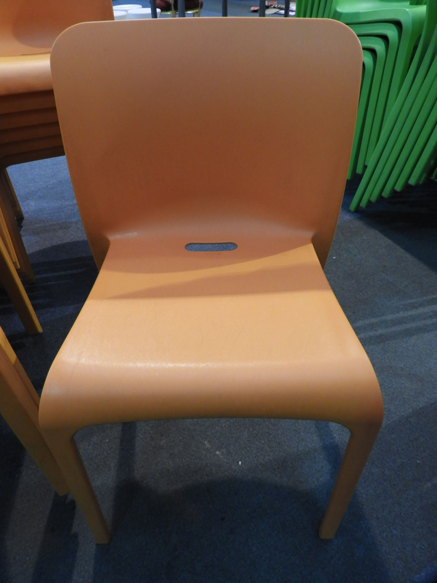 Lot 31 - *6 Pop by Origin Stackable Orange Chairs