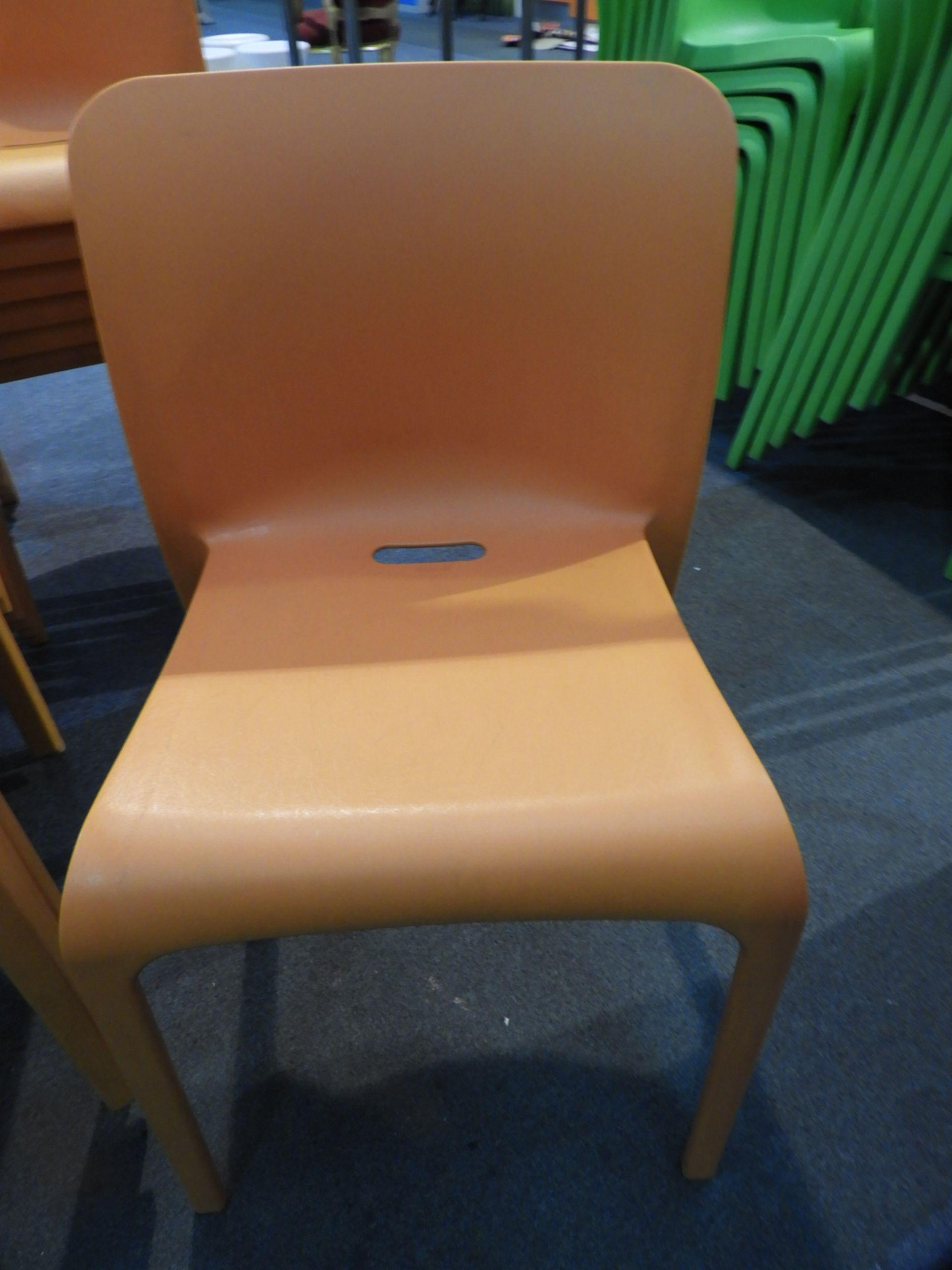 Lot 29 - *6 Pop by Origin Stackable Orange Chairs