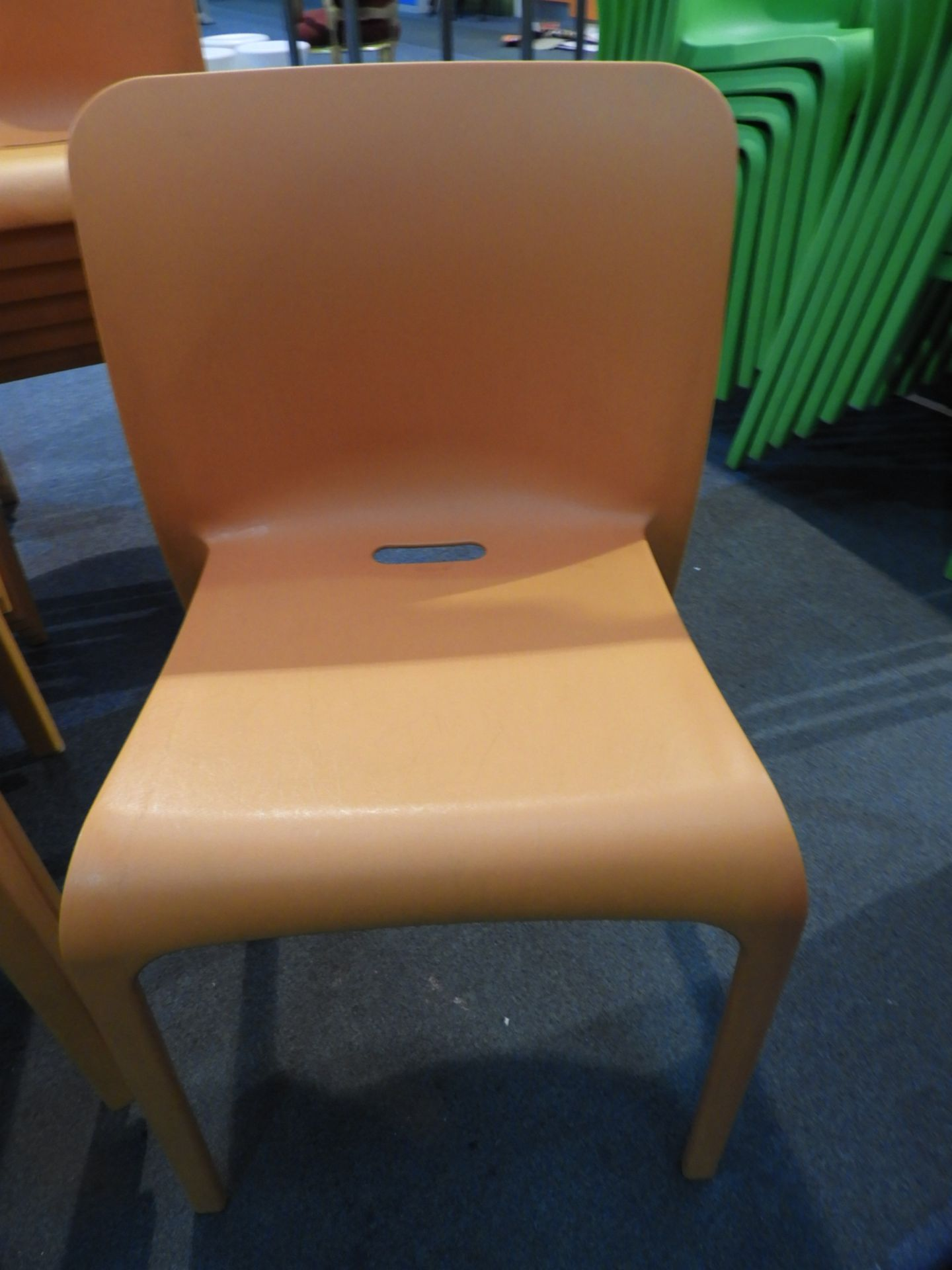 Lot 29 - *6 Pop by Origin Stackable Orange Chairs