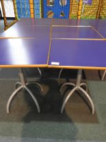 Lot 17 - *6x 70 by 70 Cafe Style Dining Tables on Tubular P