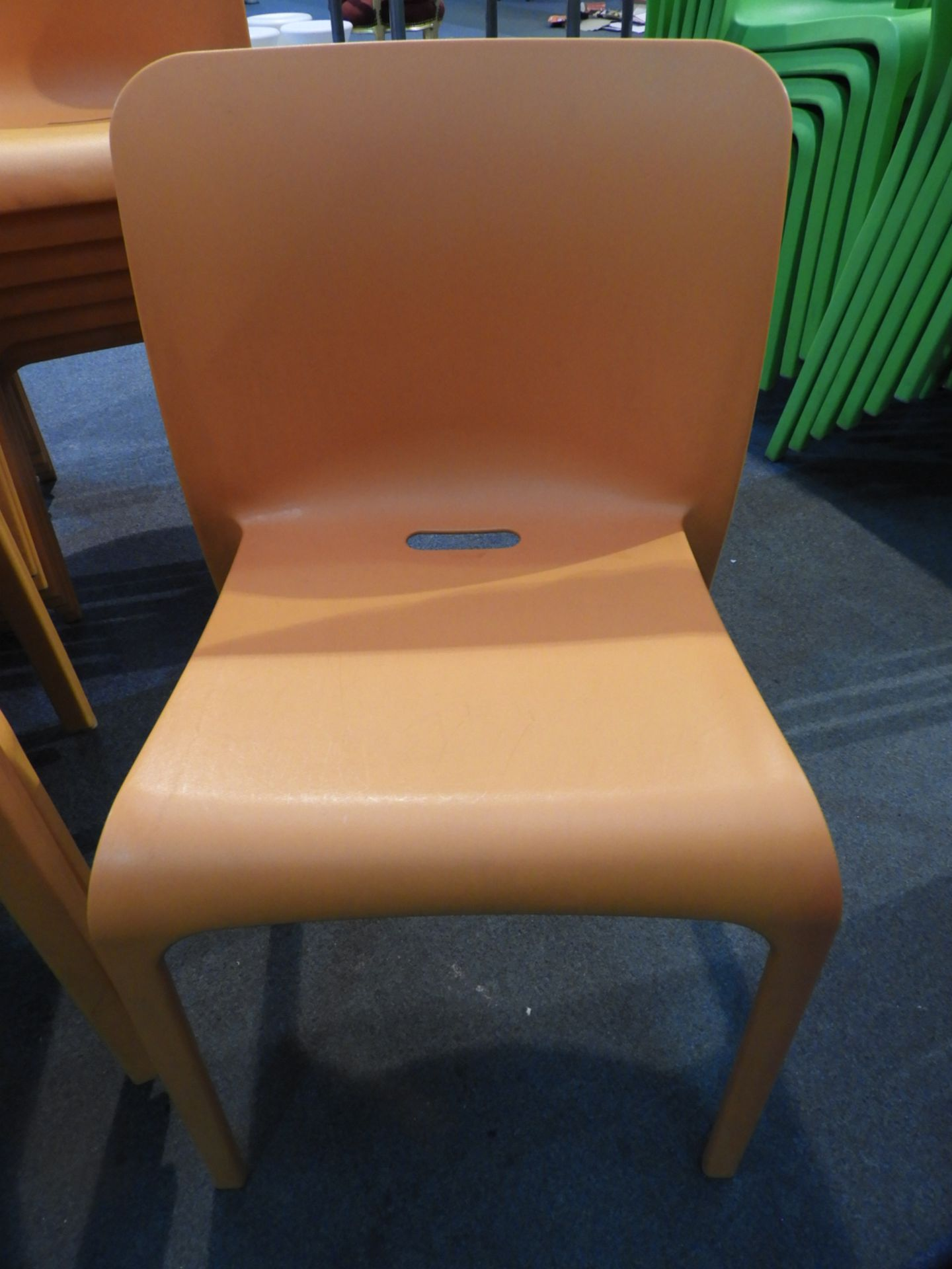 Lot 32 - *6 Pop by Origin Stackable Orange Chairs