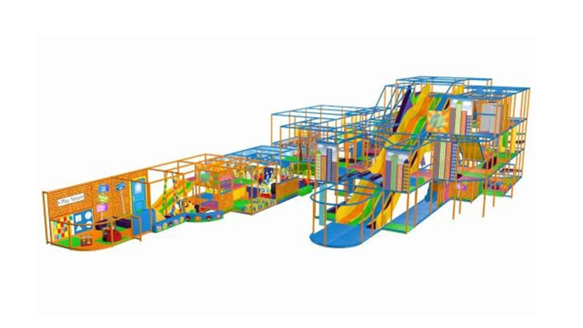 Lot 1 - *Children's activity climbing frame, two sections