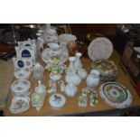 Lot 304 - Table Top of Pottery Items including Aynsley Photo