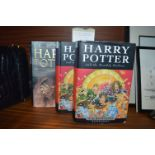 Lot 177 - 3 First Edition Harry Potter Books