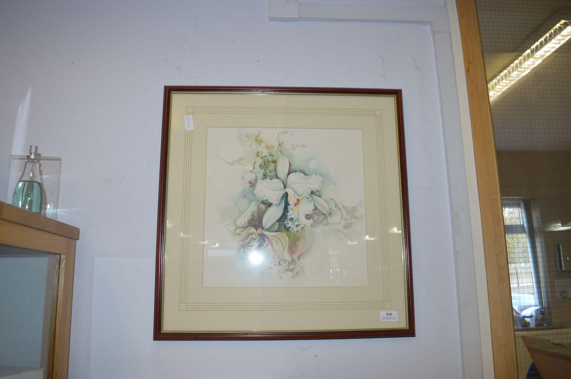 Lot 416 - Framed Floral Print