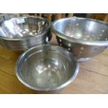 Lot 349 - *Twenty Stainless Steel Bowls and a Colander