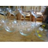 Lot 347 - *Four Glass Bowls and Four Large Glasses