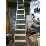 Set of Eight Tread Aluminium Decorator's Steps