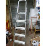 Set of Five Tread Aluminium Decorator's Steps