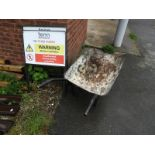 Lot 101 - *Three Health & Safety Signs and a Builders Barrow