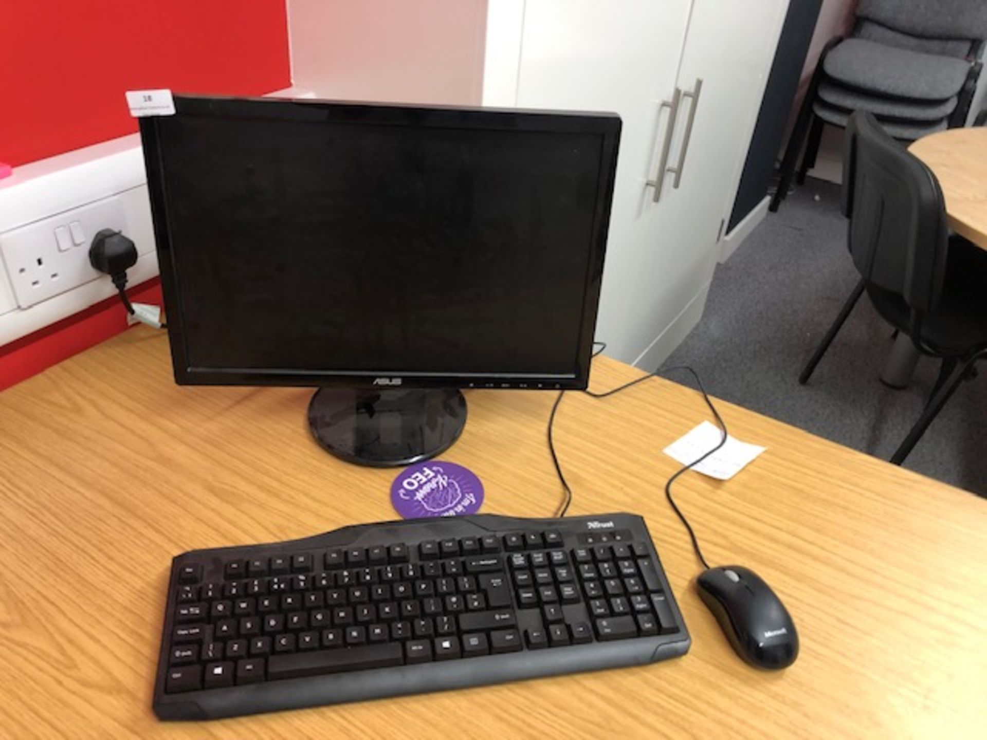 Lot 18 - *Zoostorm Desktop PC A6-Vision with Asus Monitor, Keyboard and Mouse