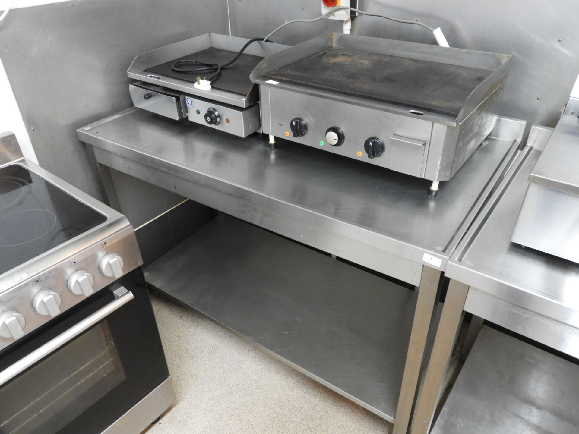 Lot 8 - Stainless Steel Preparation Table with Under Shelf