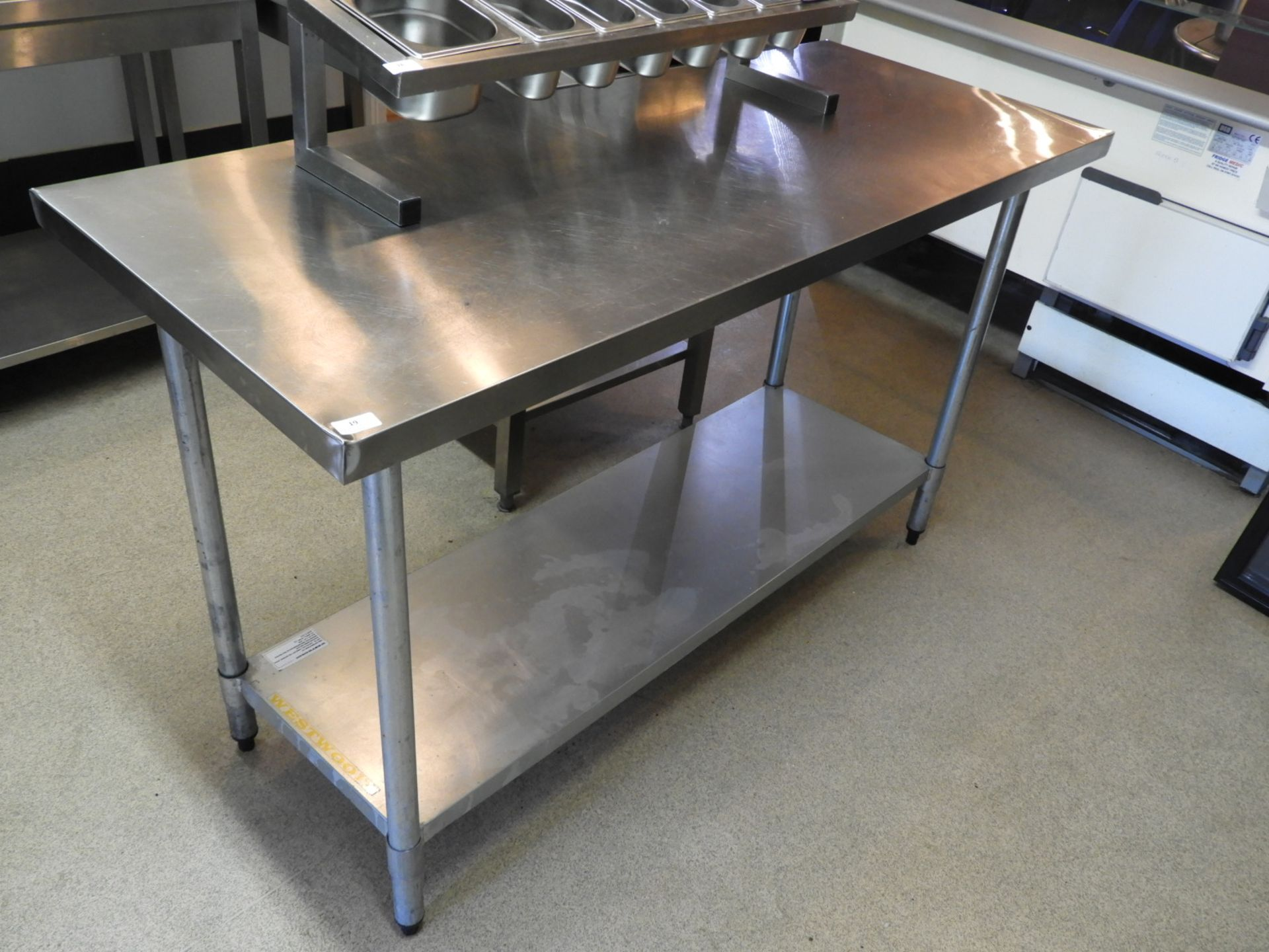 Lot 19 - Stainless Steel Island Preparation Unit with Under