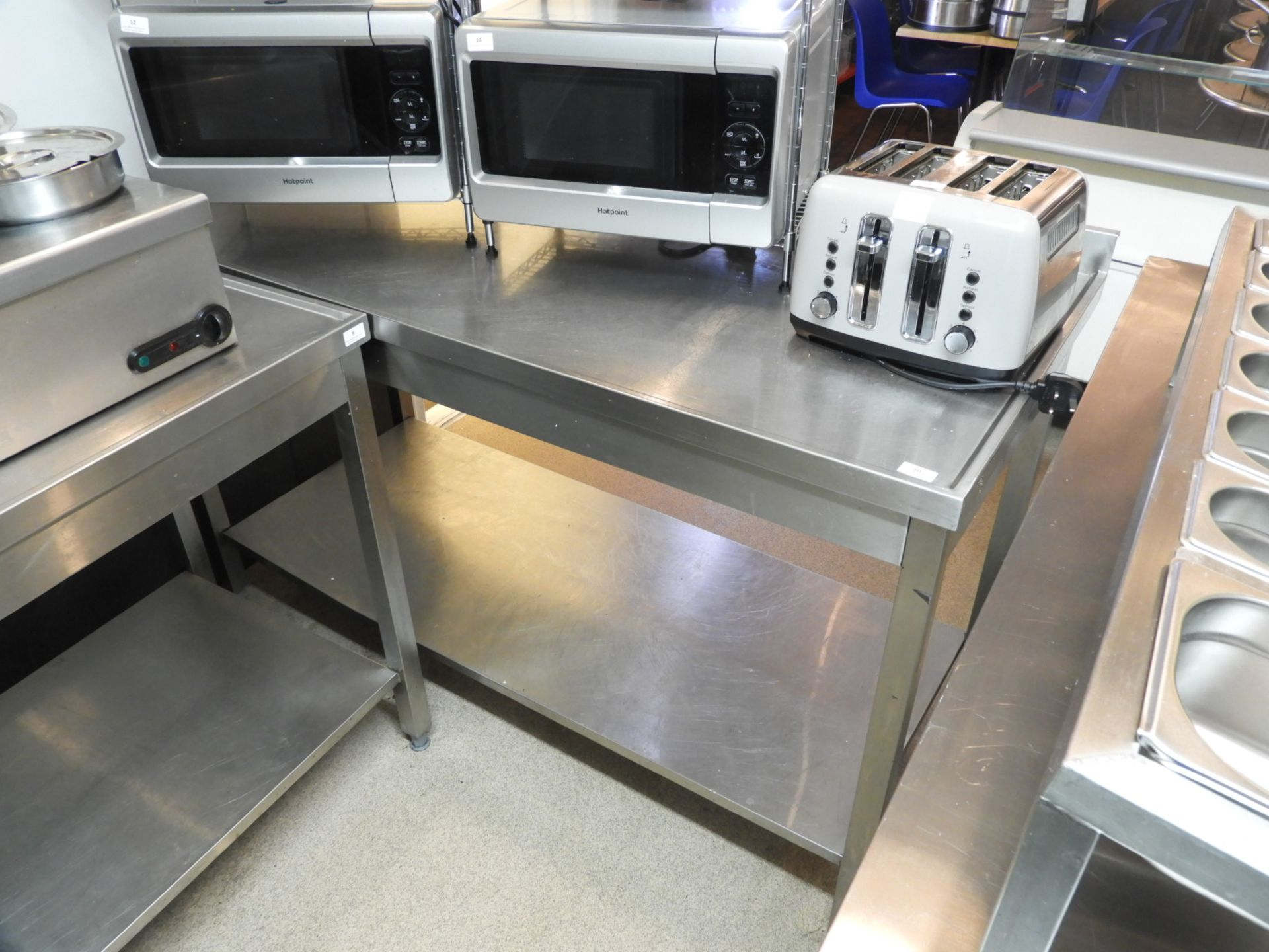 Lot 10 - Stainless Steel Preparation Table with Under Shelf