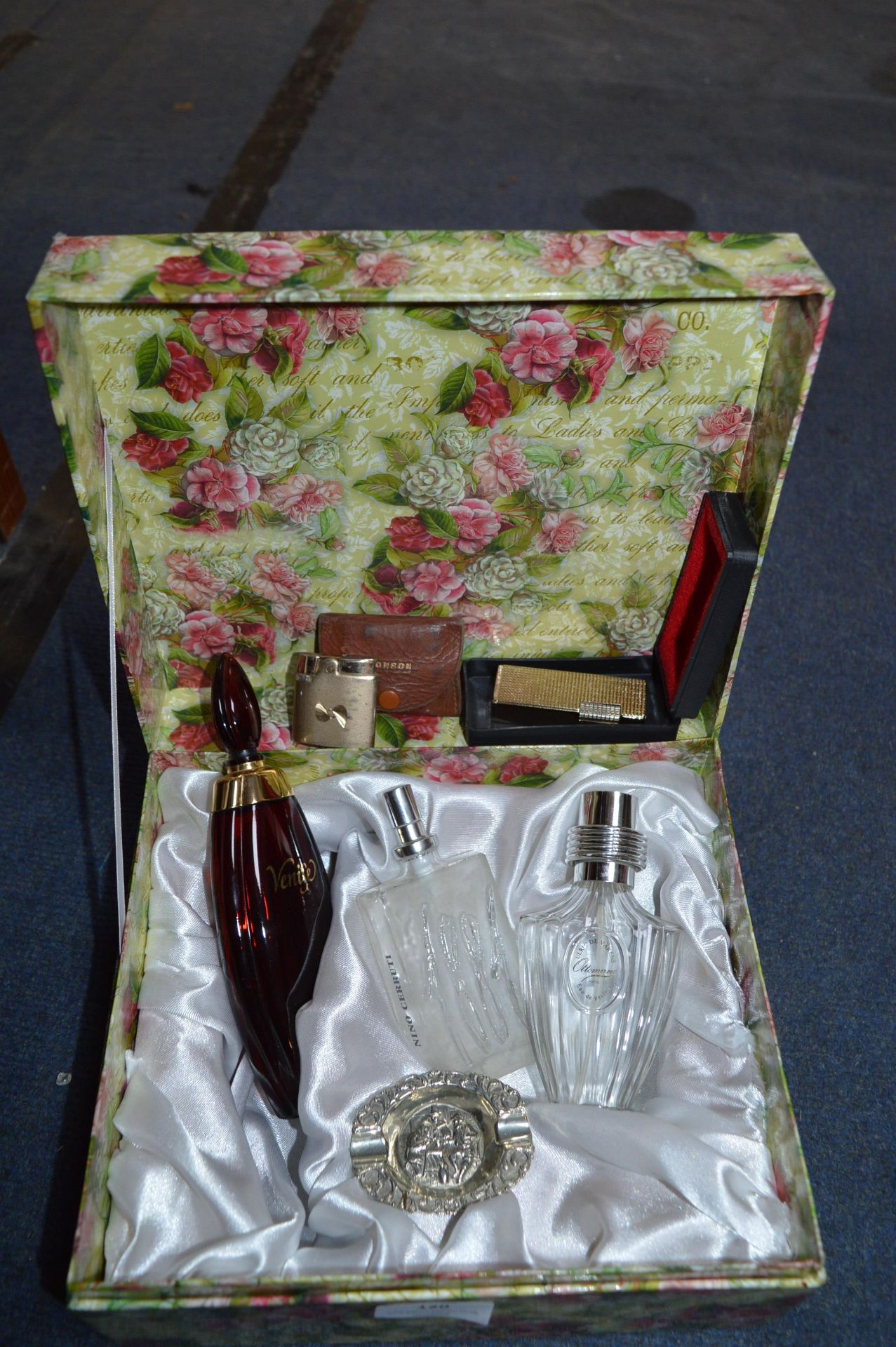 Lot 120 - Box of Glassware Scent Bottles, etc.