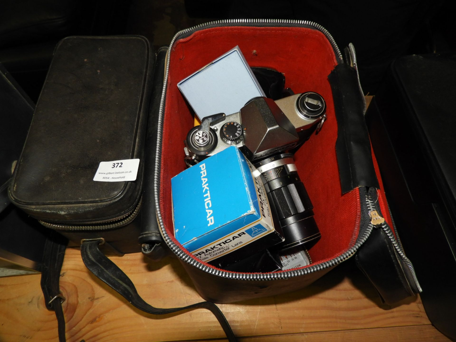 Lot 372 - Praktica Camera with Lens, Two Camera Bags and Acc