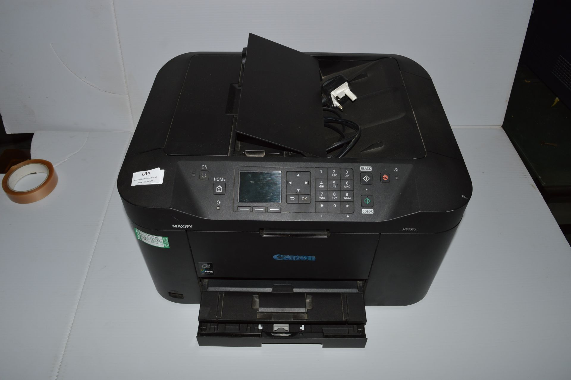 Lot 634 - *Canon Maxify MB2050 Aio Printer