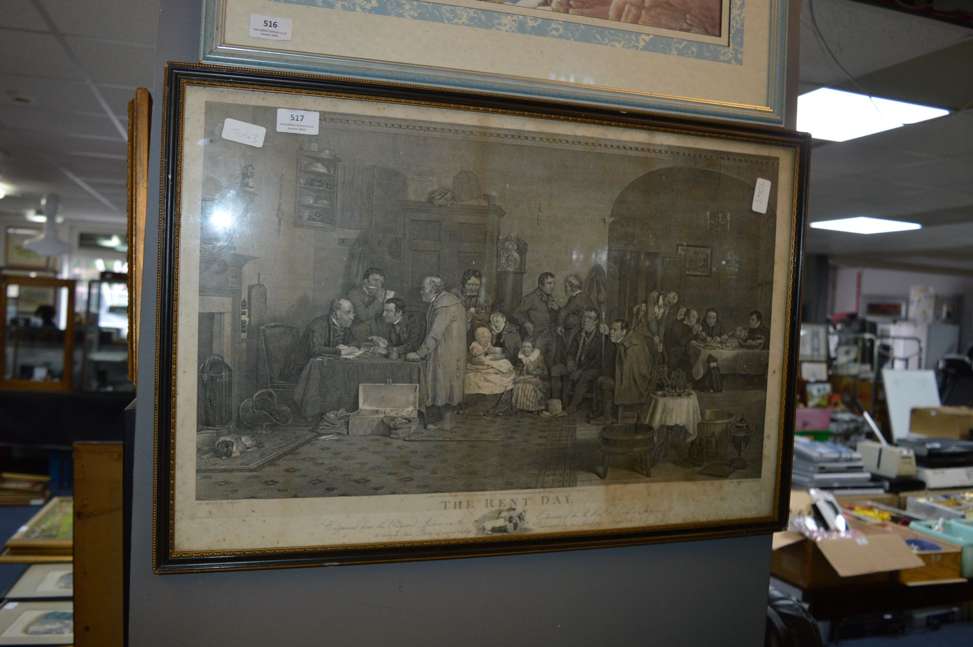 Lot 517 - Vintage Print - The Rent Day 1877