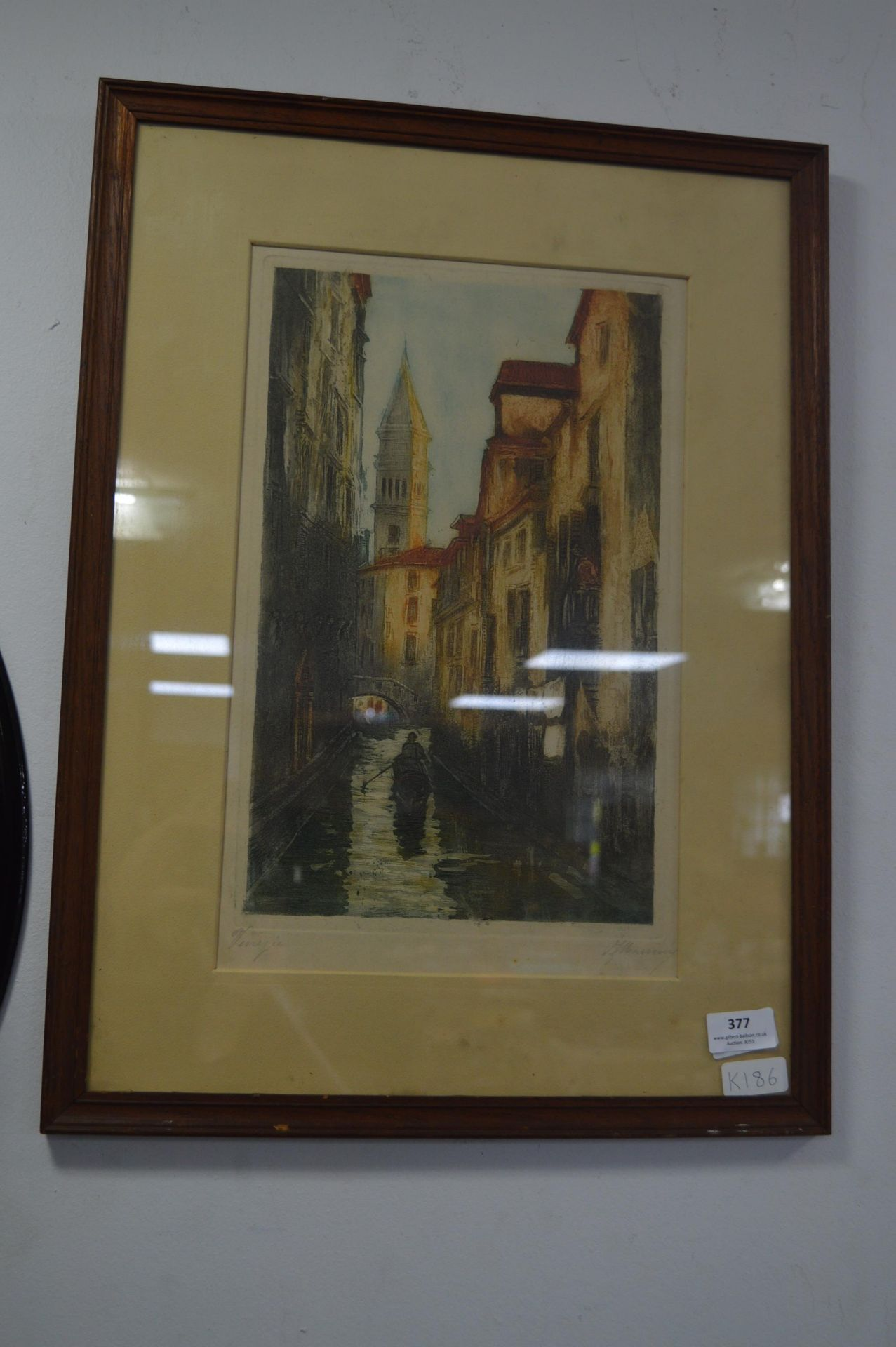 Lot 377 - Vintage Print of Venice