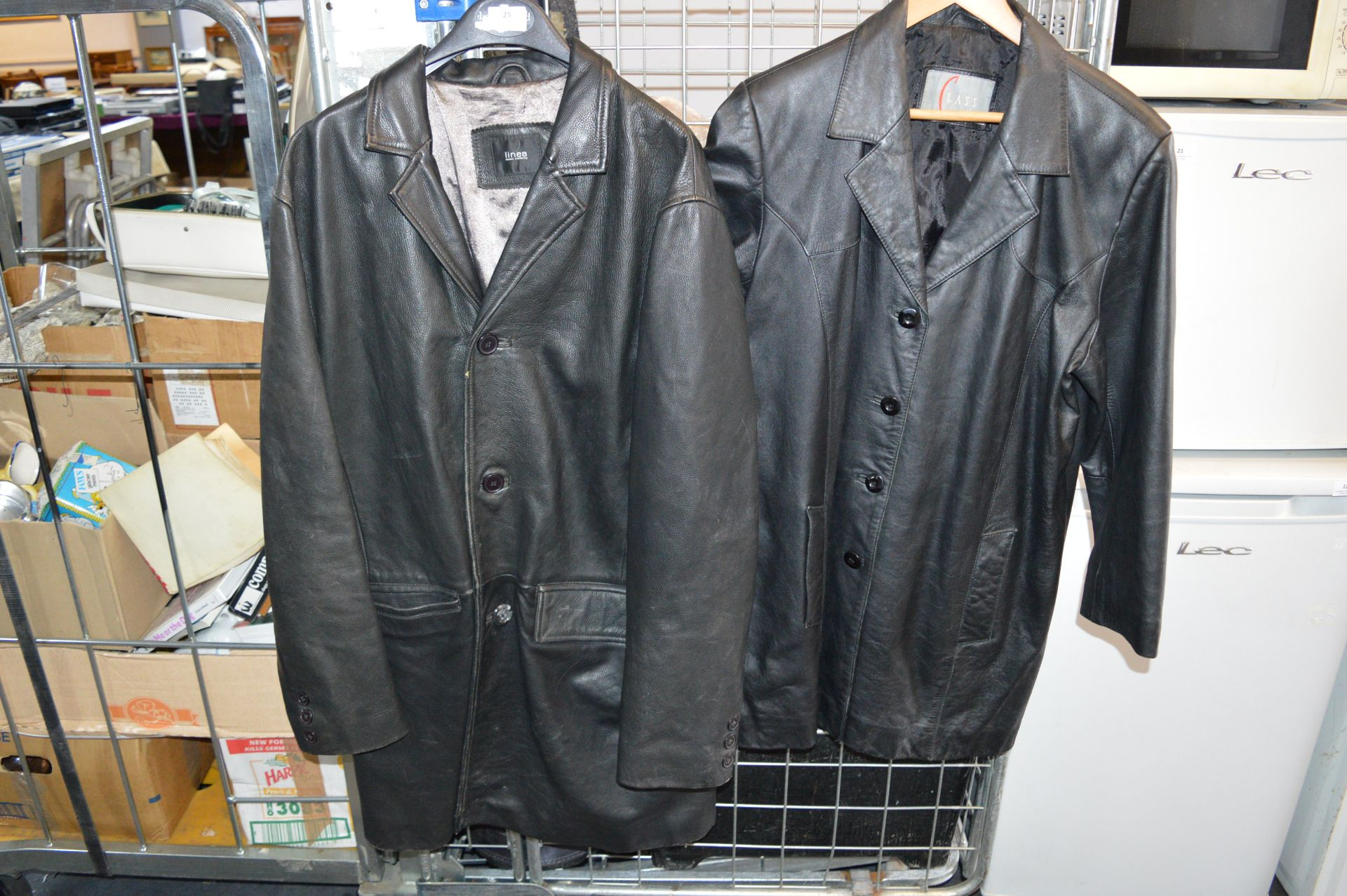 Lot 25 - Two Gents Leather Coats
