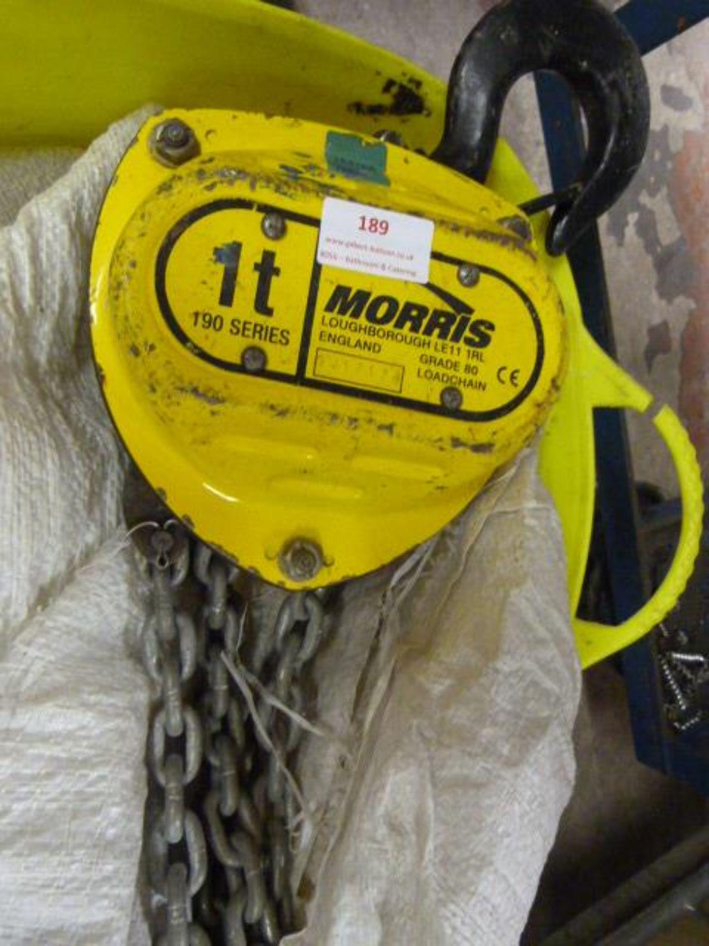 Lot 189 - *1 Tonne 190 Series Morris Chain Hoist