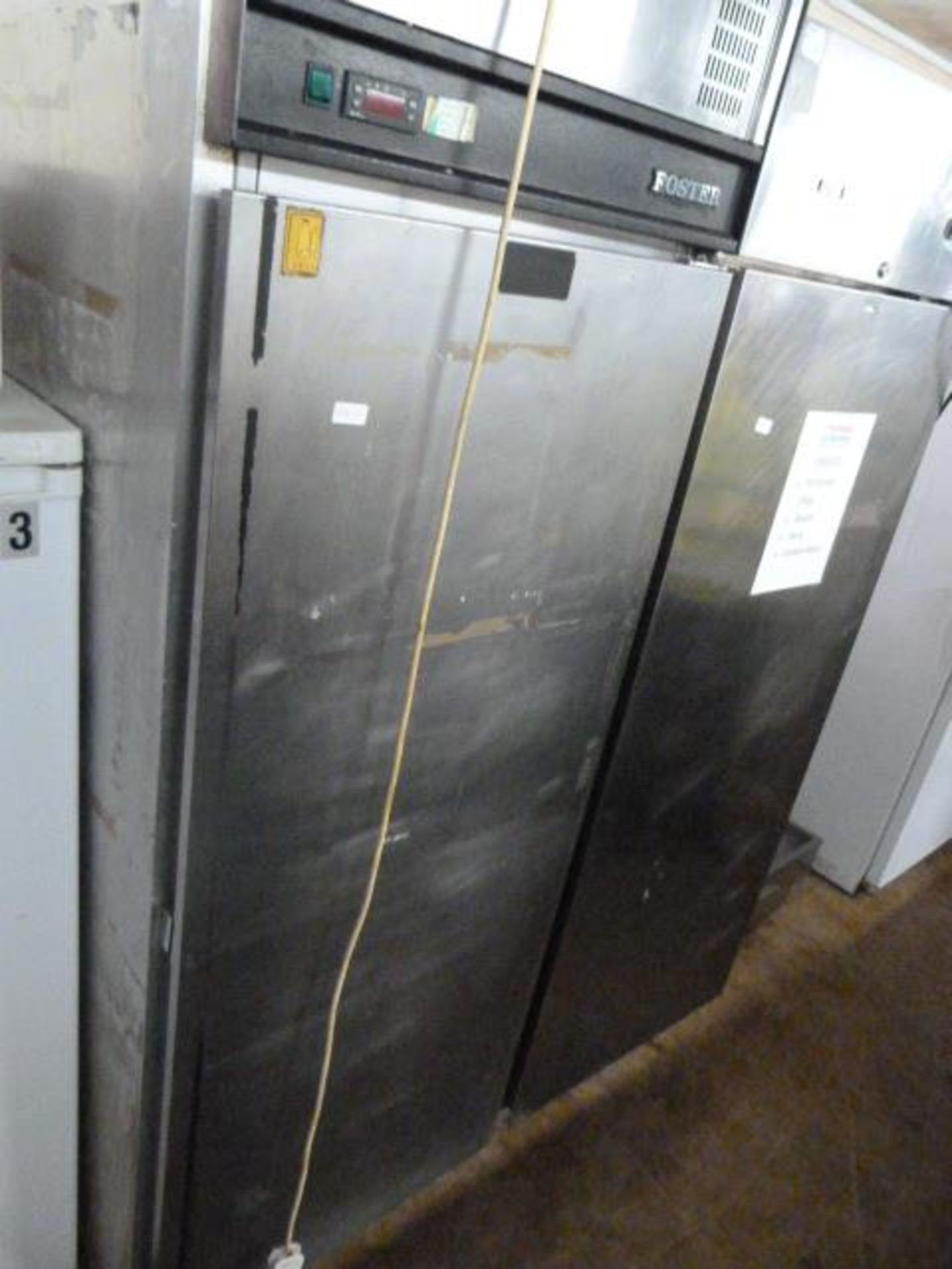 Lot 12 - Foster Stainless Steel Refrigerator