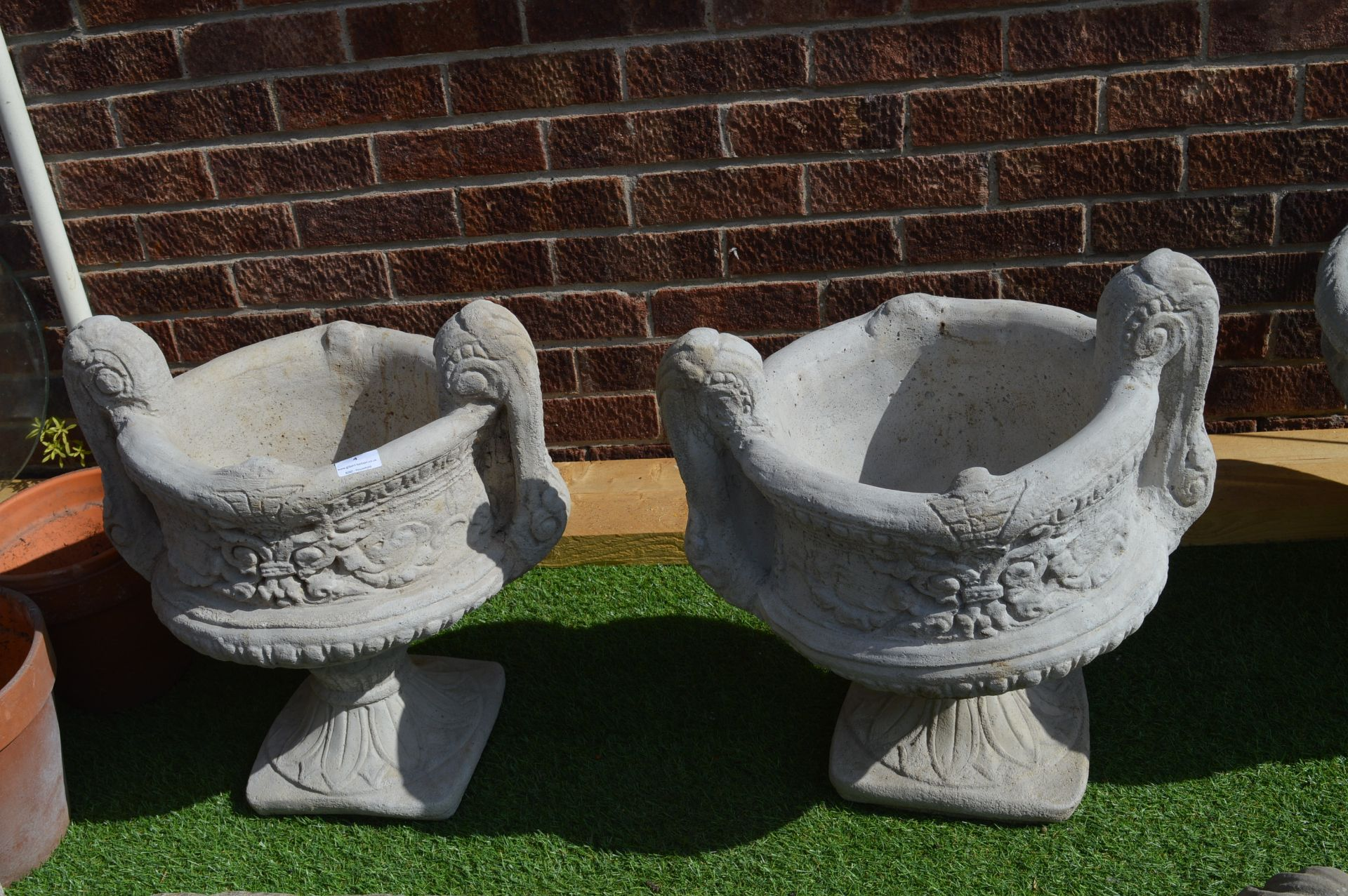 Lot 4 - Two Reconstituted Limestone Garden Urns