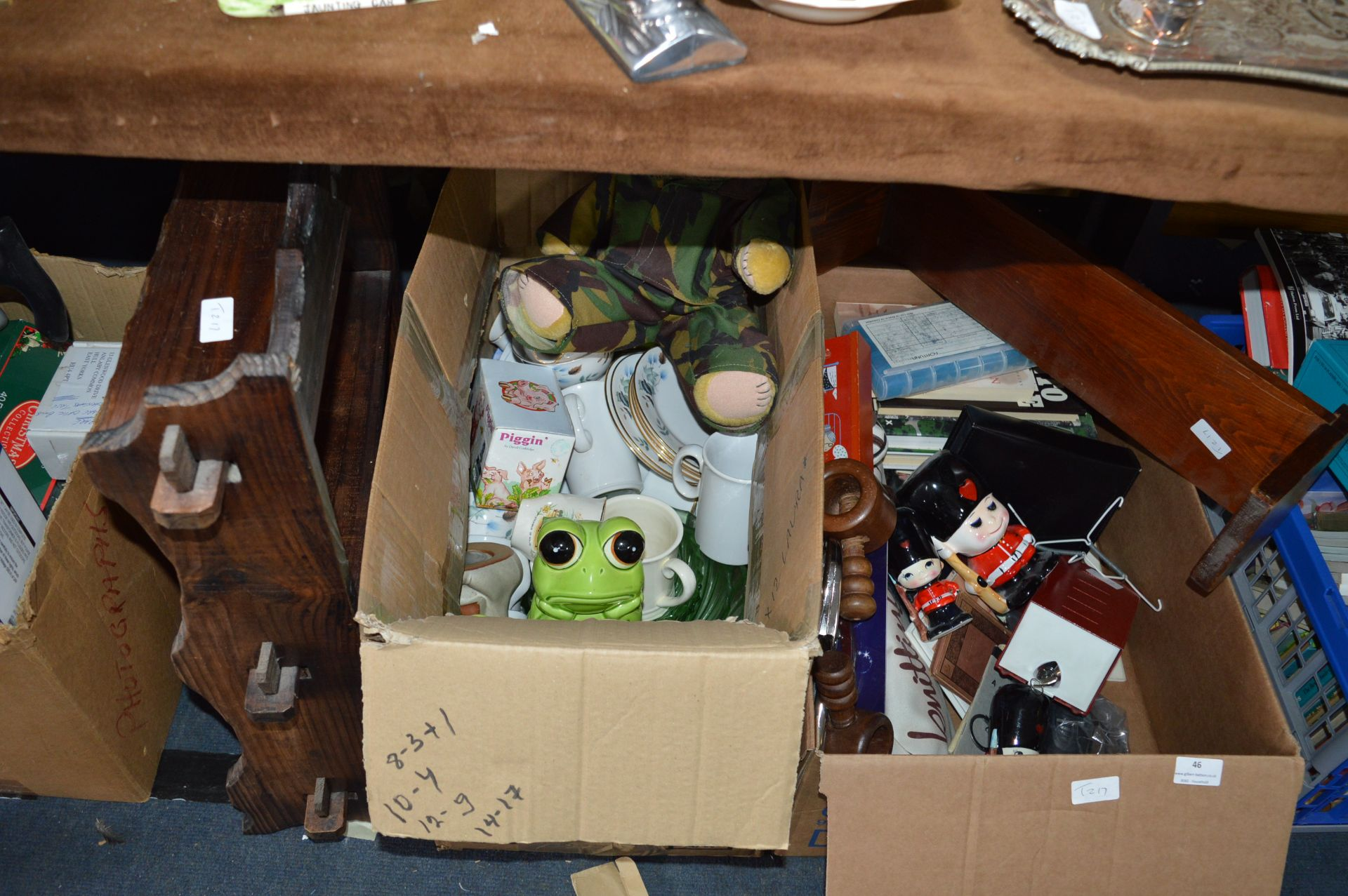 Lot 46 - Two Boxes of Assorted Household Items; Small Books