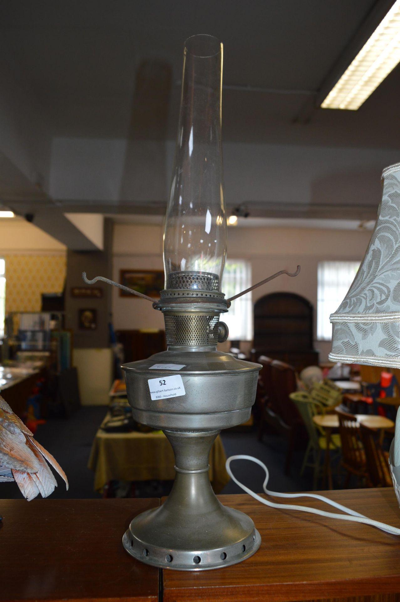 Lot 52 - Oil Lamp