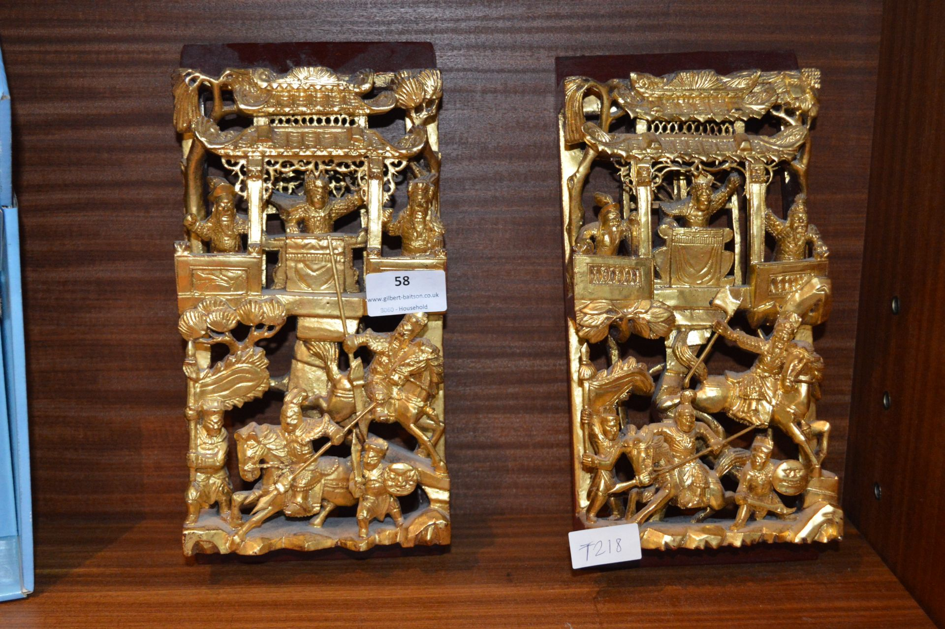 Lot 58 - Two Eastern Style Gilt Ornaments