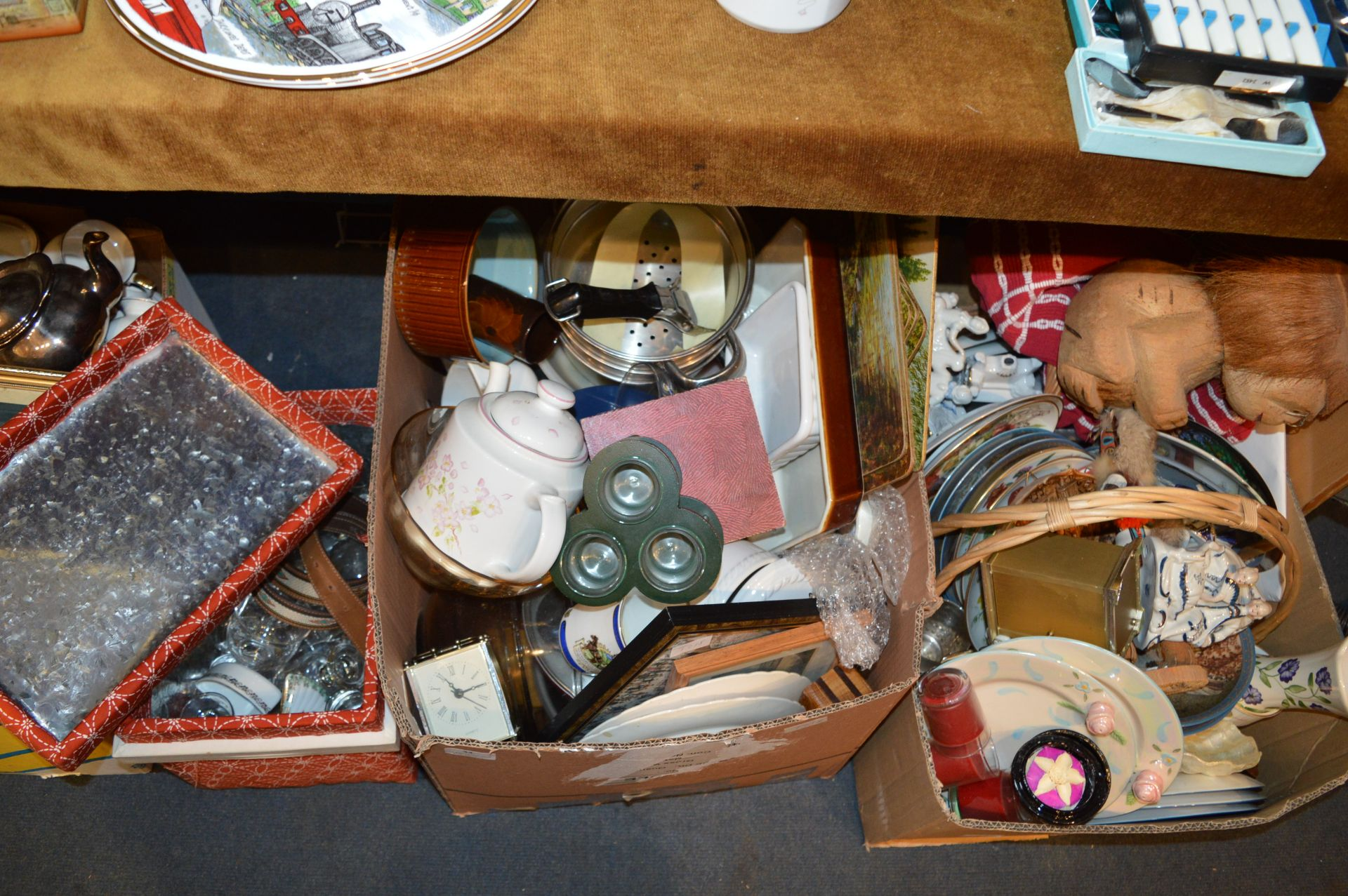 Lot 33 - Three Boxes of Assorted Household Item, Pottery, G