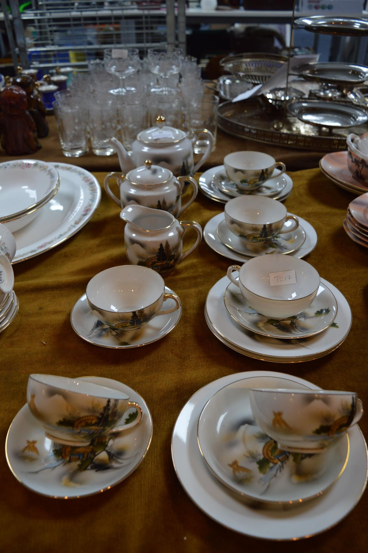 Lot 27 - Chinese Porcelain Tea Set (22 Pieces)