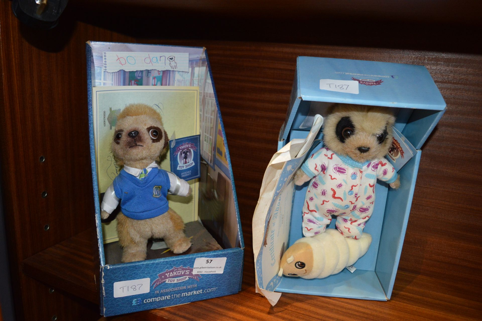 Lot 57 - Two Soft Toy Meerkats