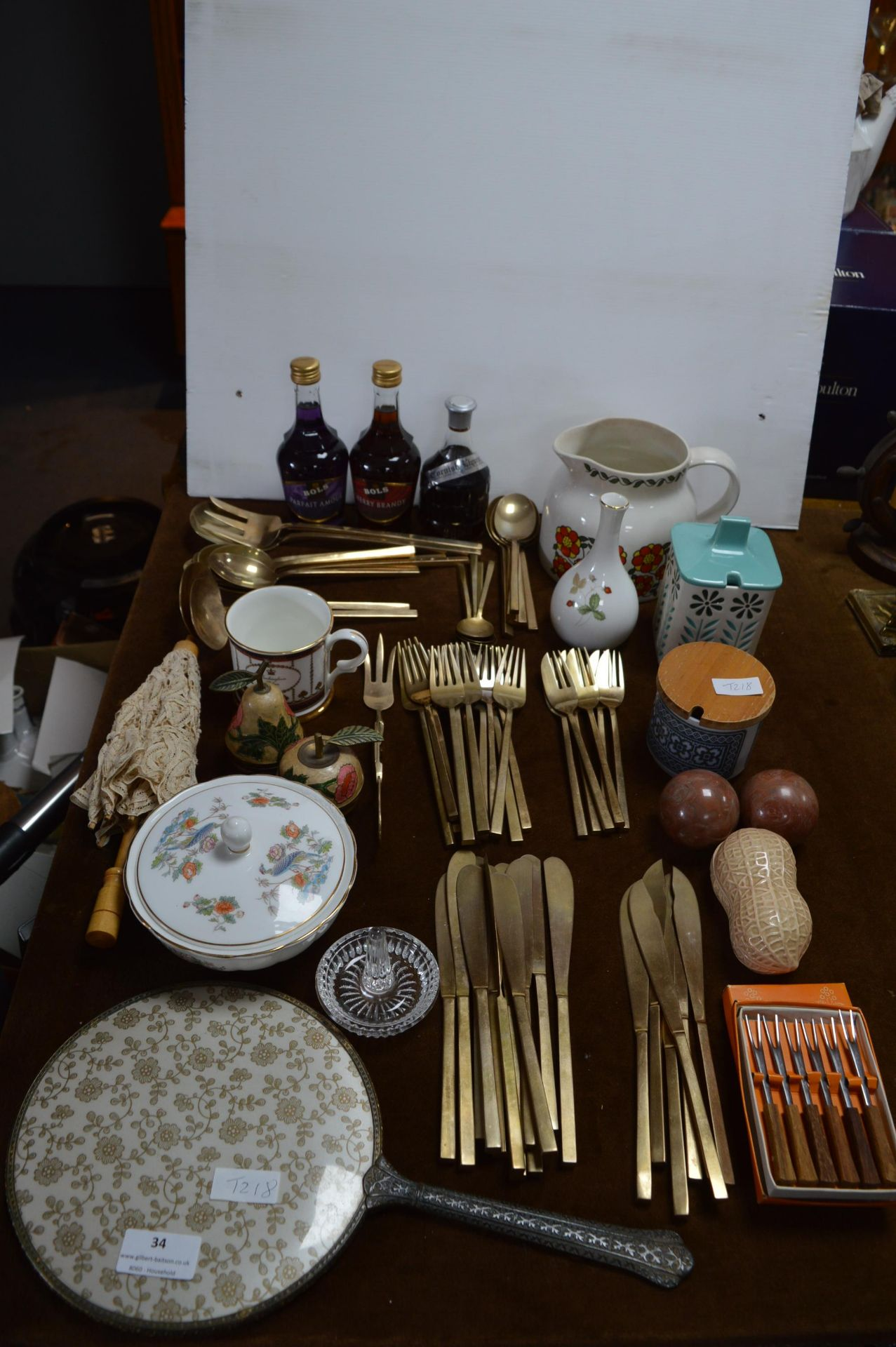 Lot 34 - Collection of Assorted Cutlery, Bols Alcohol and H