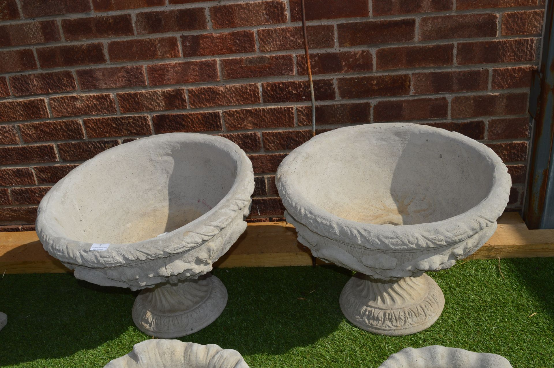 Lot 5 - Two Reconstituted Limestone Planters